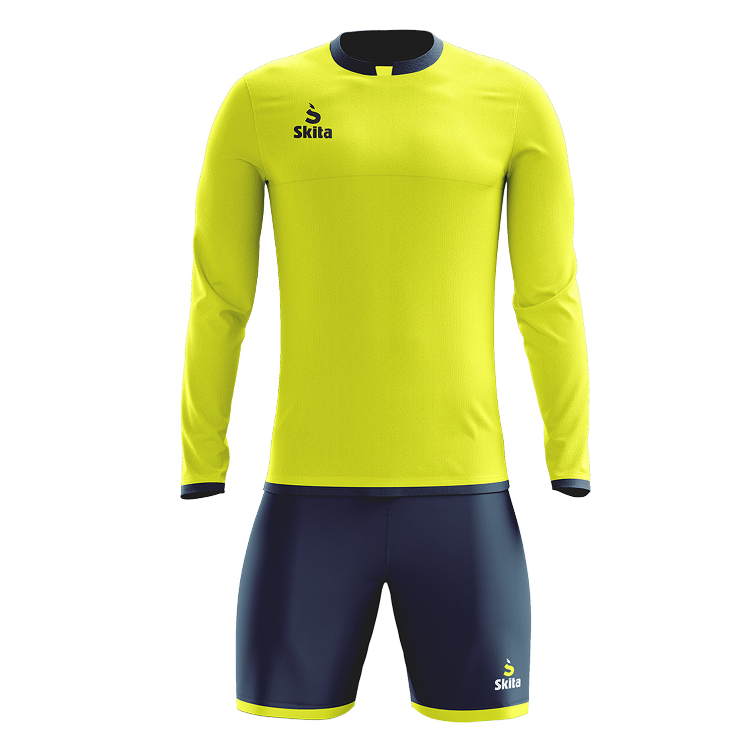 Maillot short Estoril (Jaune/Bleu Nuit)
