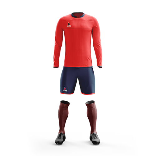 Maillot short Estoril (Rouge/Bleu nuit)
