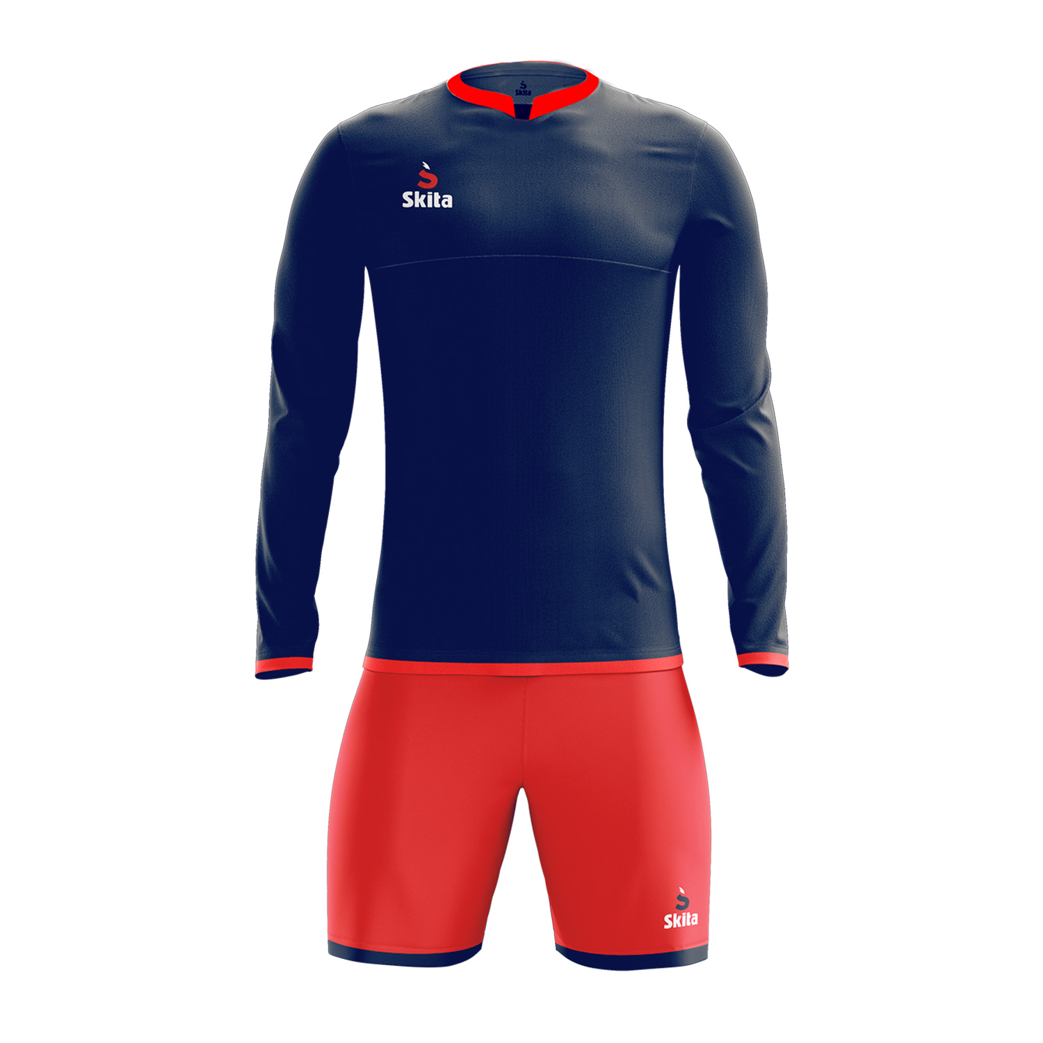Maillot short Estoril (bleu nuit/rouge)